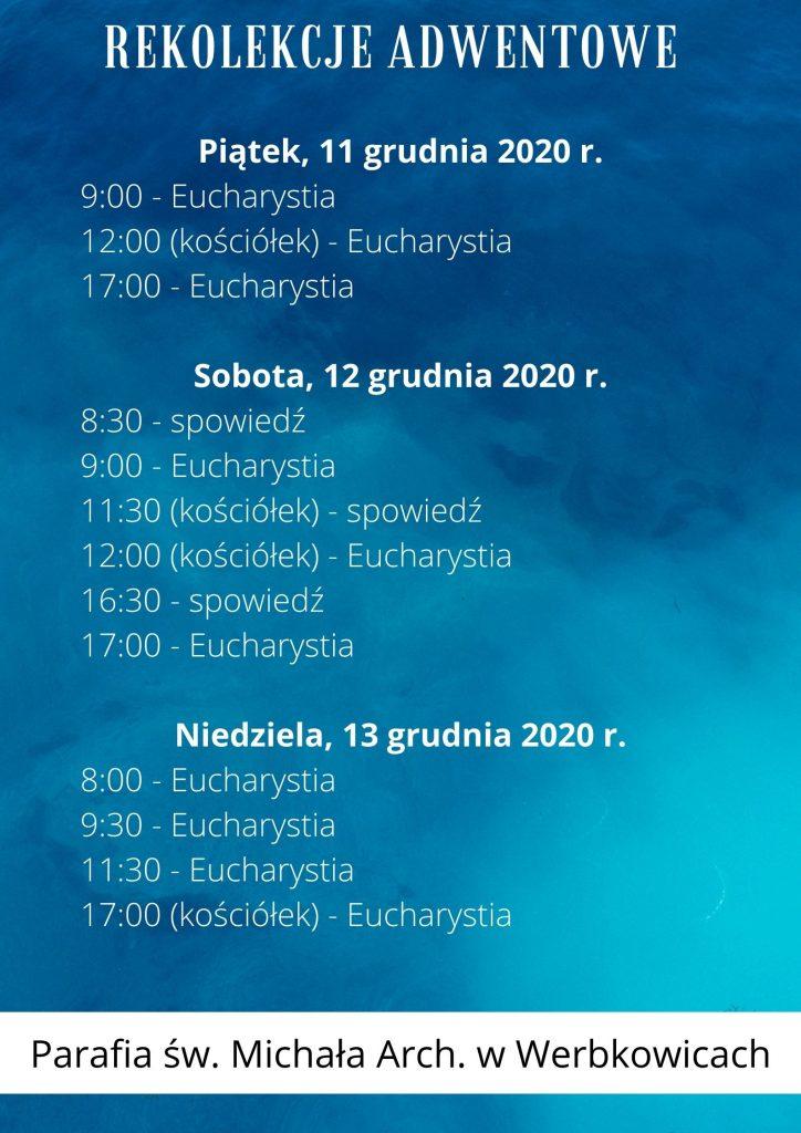 Rekolekcje adwentowe – 2020 r.